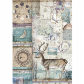 Stamperia A4 Rice Paper - Cosmos Deer - DFSA4390